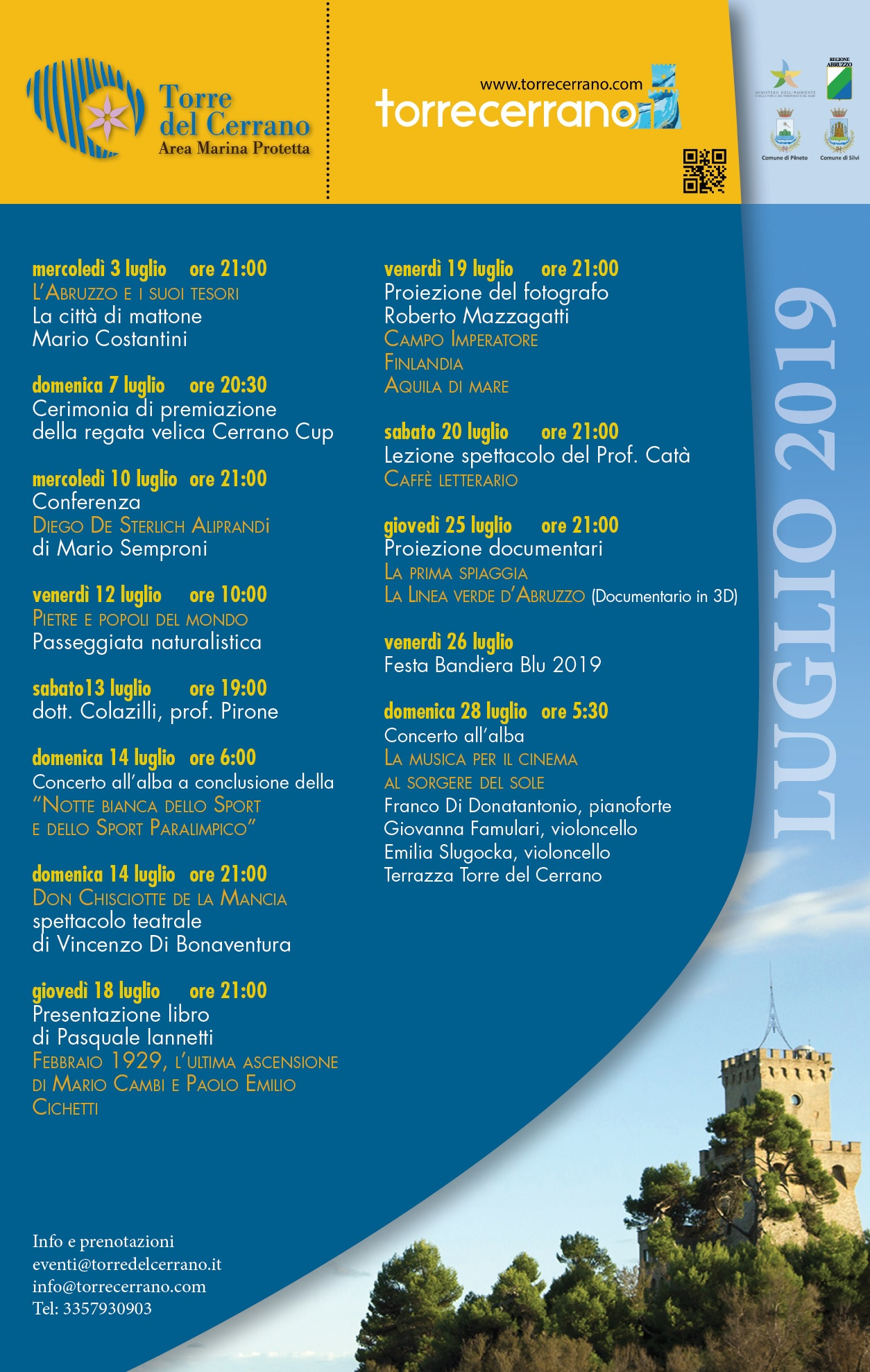 Teramo Ambiente Calendario.Calendario Eventi Torre Cerrano Torre Del Cerrano